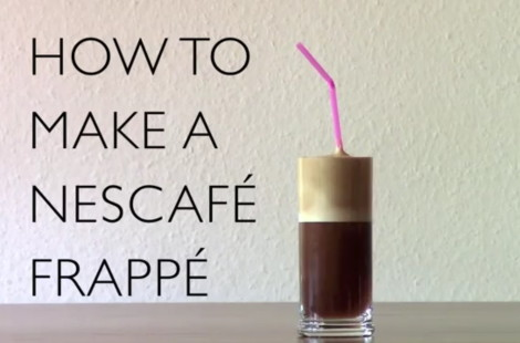 How to make a real Greek Nescafe Frappe Coffee
