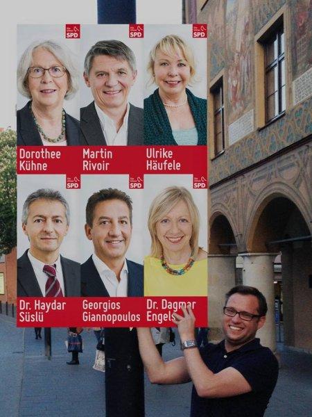 SPD Ulm präsentiert Megaplakat
